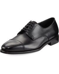Ferragamo - Mabel Leather Derby Shoes - Lyst