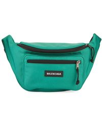 Balenciaga Men's Explorer Nylon Belt Bag/fanny Pack - Green
