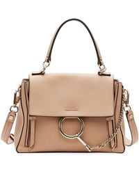 Chloé - Faye Day Small Pebbled Ring Shoulder Bag - Lyst