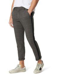 Joe's Jeans Men's Cropped Plaid Side-stripe Pants - Gray