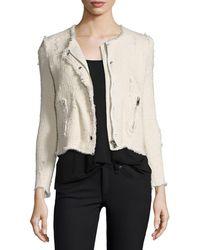 IRO - Agnette Cropped Boucle Jacket - Lyst