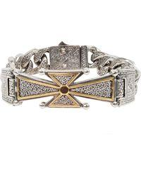 Konstantino - Men's Stavros 18k Gold Cross Bracelet - Lyst