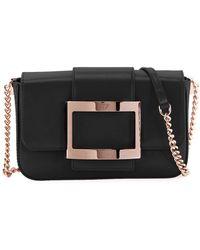 Lyst - Roger Vivier Prismick Shoulder Bauhaus Mini Bag in White 134923d51c752