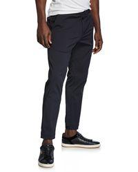 Theory Men's Rem Neoteric Nylon Drawstring Pants - Black