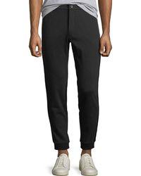 Michael Kors - Men's Jogger Sweatpants W/ Leather Trim - Lyst