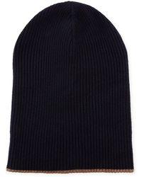 Brunello Cucinelli - Men's Cashmere Reversible Ribbed Beanie Hat - Lyst