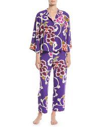 Natori - Samarkand Classic Floral Pajama Set - Lyst