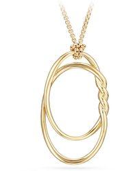 David Yurman - 47mm Continuance 18k Gold Pendant Necklace - Lyst