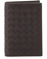 Bottega Veneta | Fold-over Leather Card Case | Lyst