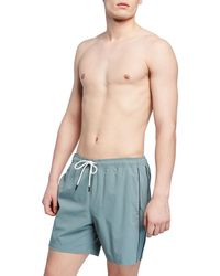Theory Men's Simulate New Pipe Swim Trunks - Blue