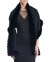 Gorski - Fur-trim Wool Stole - Lyst