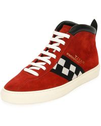 Bally - Men's Vita Parcours Retro Suede High-top Sneakers - Lyst