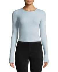 Vince - Ribbed Cashmere Long-sleeve Crewneck Top - Lyst
