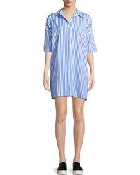 Kule - The Izzy Striped Cotton Shirt Dress - Lyst