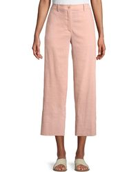 Theory - Fluid Cropped Wide-leg Pants - Lyst