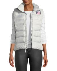 The North Face | Nuptse Standard Full-zip Down Puffer Vest With Star-print Lining | Lyst