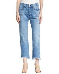3x1 - W4 Shelter Austin Raw-edge Straight-leg Cropped Jeans - Lyst
