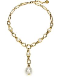 Ben-Amun - Pearly Chain-link Y-necklace - Lyst