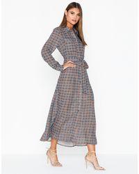 ONLY Onlcharlotte L/s Shirt Dress Wvn - Grijs