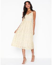 Vero Moda Vmshelly S/l Dress Exp - Naturel