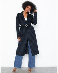 SELECTED Slflisa Handmade Coat Pin Stripe B - Blauw