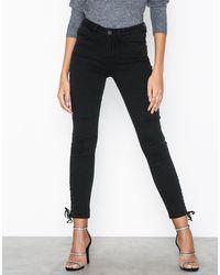 Vila Vijulas Rw 7/8 Tie Jeans - Zwart