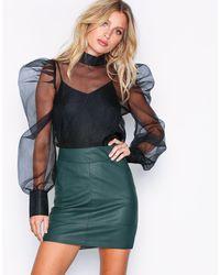 ONLY Onlbase Faux Leather Skirt Otw Noos Groen