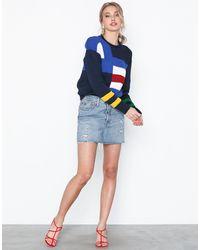 Polo Ralph Lauren Sgnl Flg Po-long Sleeve-sweater - Blauw