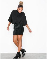 Missguided Linear Embellished Denim Mini Skirt - Zwart