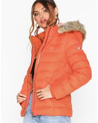 Tommy Hilfiger Tjw Essential Hooded Down Jacket - Oranje