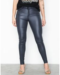 Vila Vicommit Coated Rwss New Pant-noos Blauw