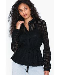 Vero Moda Vmtracy L/s Shirt Wvn - Zwart