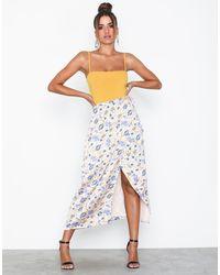 Glamorous Floral Skirt - Blauw