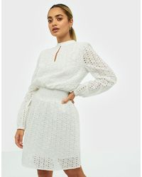 Sisters Point Embroidered Dress - Wit