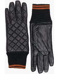 ONLY Onlsage Stepped Leather Gloves - Zwart