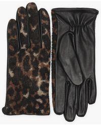 Pieces Pchailo Leo Leather Gloves - Zwart