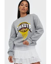 Missguided Dakota Graphic Sweatshirt - Grijs