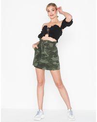 River Island Paperbag Skirt Camo - Groen