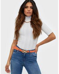 Pieces Pcjennica Jeans Belt - Oranje