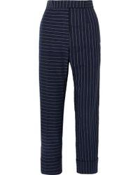 Thom Browne - Pinstriped Cotton Slim-leg Pants - Lyst