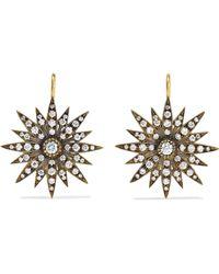 Sylva & Cie - 18-karat Gold Diamond Earrings Gold One Size - Lyst