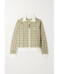 Tory Sport Checked Tech-jersey Track Jacket - Multicolour