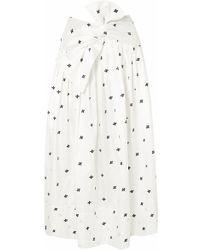 311226119b76 Rochas Floral Silksatin Jacquard Midi Skirt in Pink - Lyst