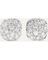 Pomellato Nudo Solitaire 18-karat Rose And White Gold Diamond Earrings - Metallic