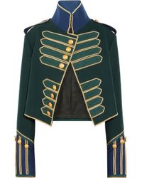 Burberry - Embellished Cropped Wool Jacket - Lyst