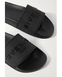 Givenchy Logo-embossed Rubber Slides - Black