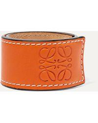 Loewe Armband Aus Geprägtem Leder - Orange