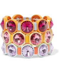 Roxanne Assoulin - Technicolor Set Of Three Enamel And Swarovski Crystal Bracelets - Lyst