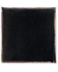 Loro Piana Quadrata Luna Fringed Metallic Cashmere-blend Scarf - Multicolour