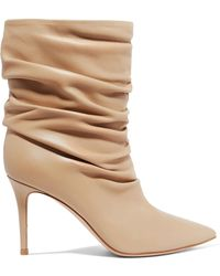 Gianvito Rossi - Cecile 85 Leather Ankle Boots - Lyst